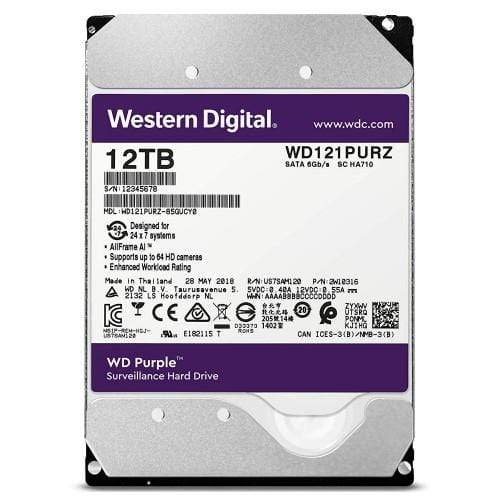 "WD Purple 12TB Surveillance Internal Hard Drive 3.5"" Sata"