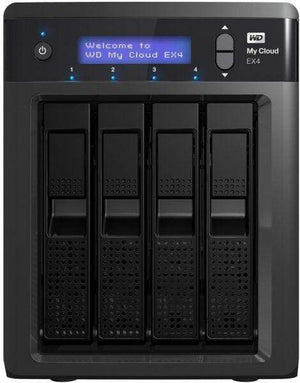 Western Digital My Cloud EX4 8TB Private Cloud Storage Black - WDBWWD0080KBK-EESN