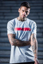 Paint Stroke T-Shirt - Grey / Red