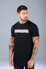 Paint Stroke T-Shirt Black / Dust Pink