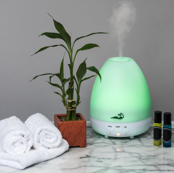 PureAirAroma Electric Essential Oil Diffuser With 7 LED Color Lighting Options and Automatic Shutoff