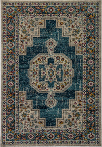 Zodiac 6620-159 Blue/Multicolored Area Rug