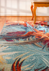 Zodiac 6622-536 Blue/Multicolored Area Rug