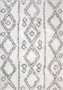 Nordic 7434-100 Grey/White Area Rug