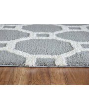 Load image into Gallery viewer, Silky Shag 5903-901 Silver/White Shag Rug