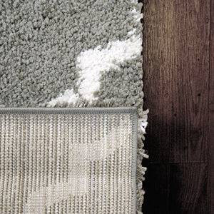 Super Shaggy 3721-910 Grey/Ivory Shag Rug