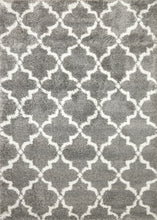 Load image into Gallery viewer, Super Shaggy 3721-910 Grey/Ivory Shag Rug