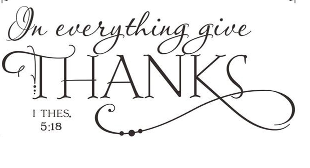 """In Everything Give Thanks"" Wall Decal"