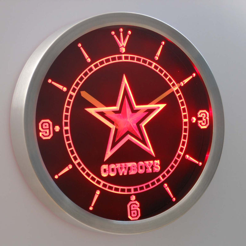"""Dallas Cowboys"" Neon Clock *3 Colours*"