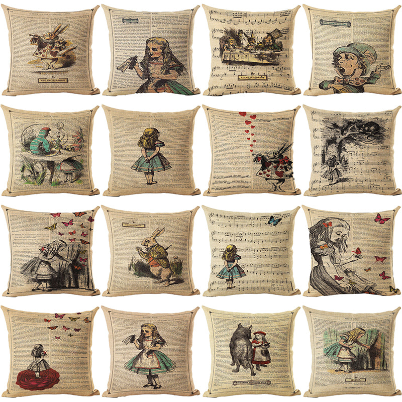 Alice in Wonderland Pillow Covers