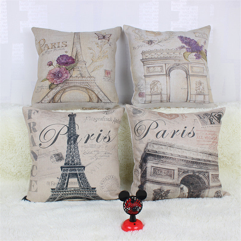 """Paris"" Decorative Pillow Cover **"