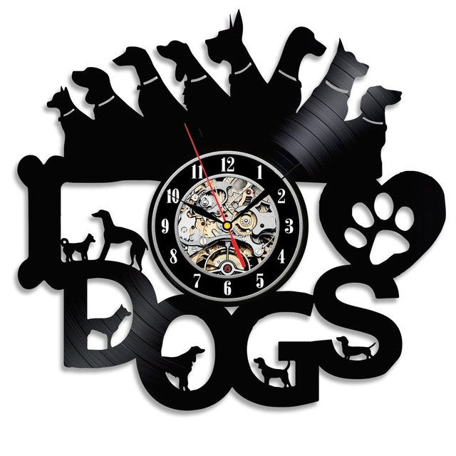 """Dogs"" Record Clock"