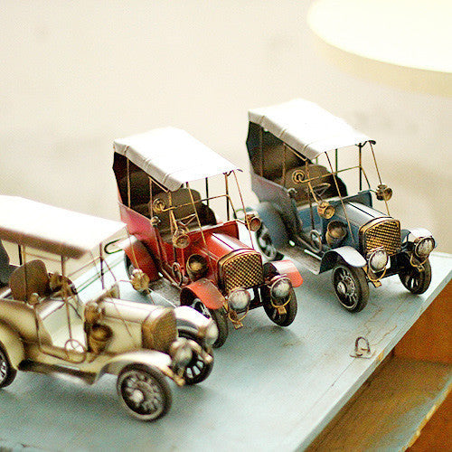 Colourful Vintage Metal Car Model