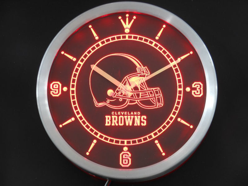 """Cleveland Browns"" Neon Clock *3 Colours*"