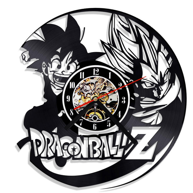 """Dragon Ball"" Record Clock"