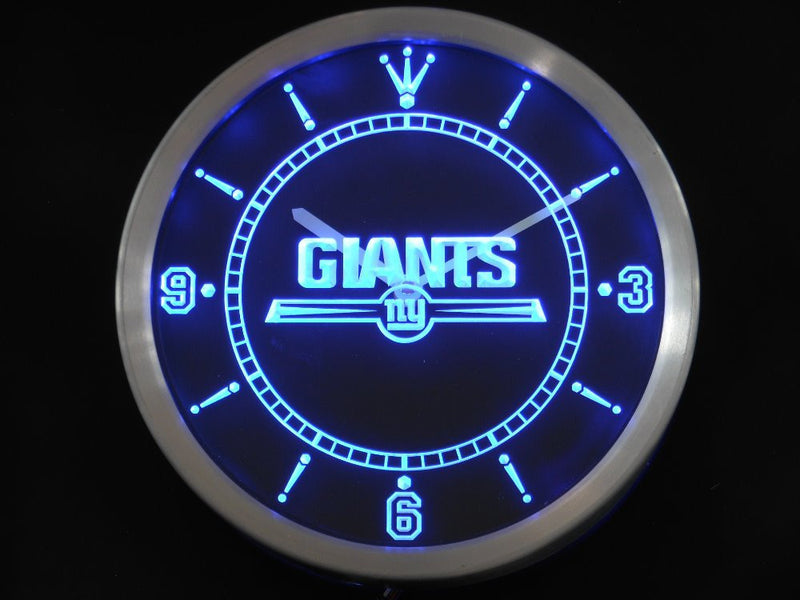 """Giants"" Neon Clock *3 Colours*"