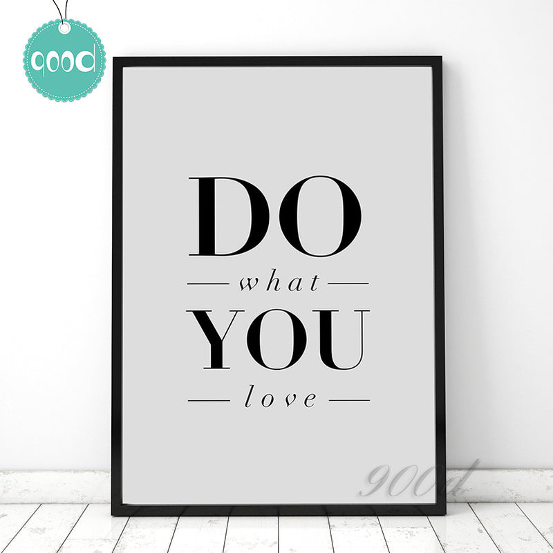 """Do What You Love"" Canvas Art"