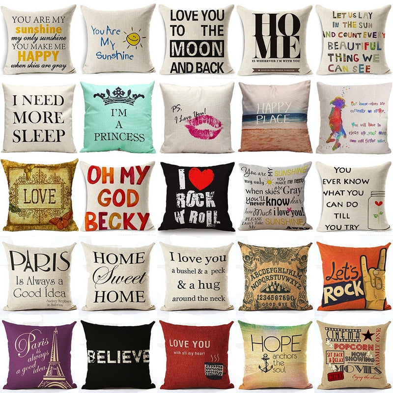 """Sayings"" Pillow Covers"