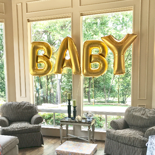 "BABY 40"" Gold Foil Balloons"