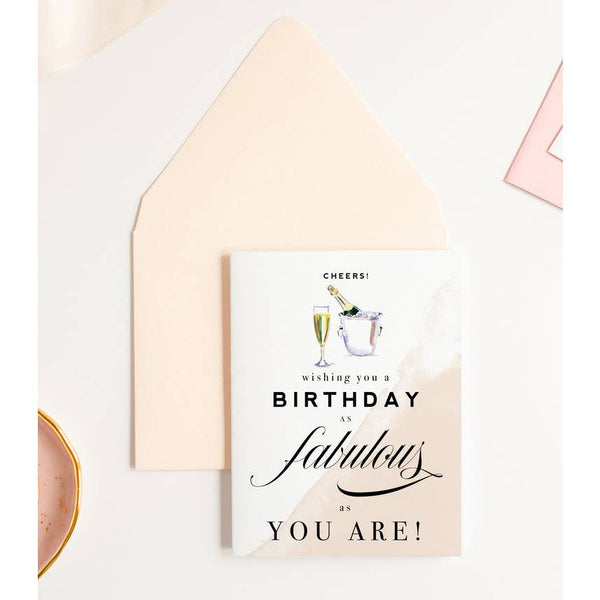Cheers! Fabulous Champagne Birthday Card
