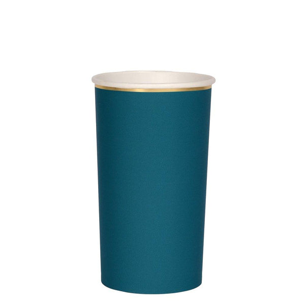 Dark Teal Highball Cups