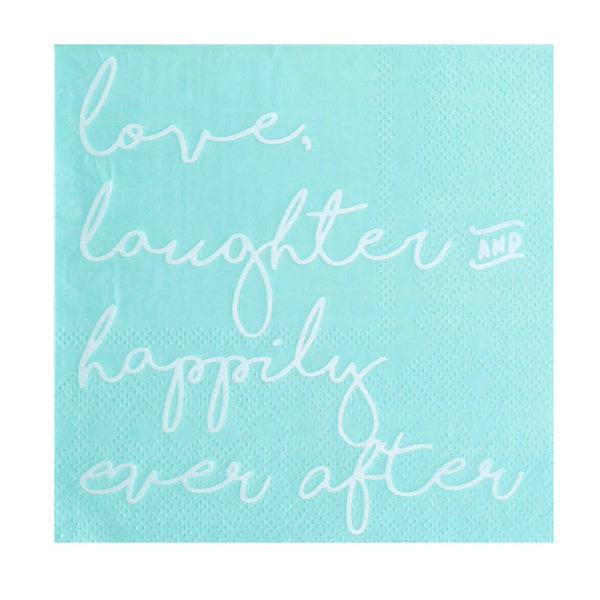Love, Laughter & Happily Ever After Cocktail Napkins