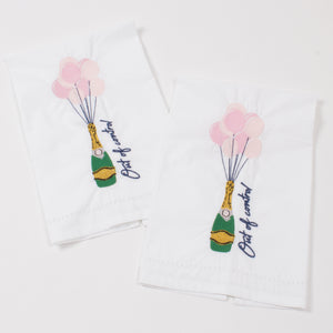 Out of Control Embroidered Bar Towels - Set of 2