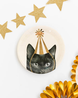 "Party Animals Cat, 7"" Plates"