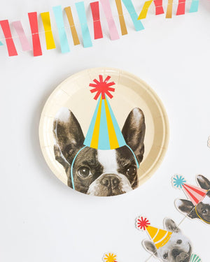 Party Animals Dog Paper Plates