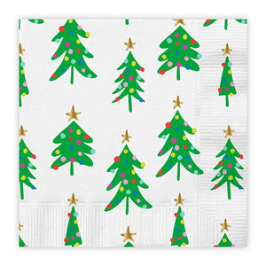 Christmas Tree Cocktail Napkins