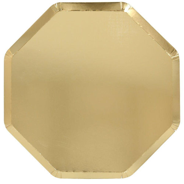 Gold Dinner Paper Plates