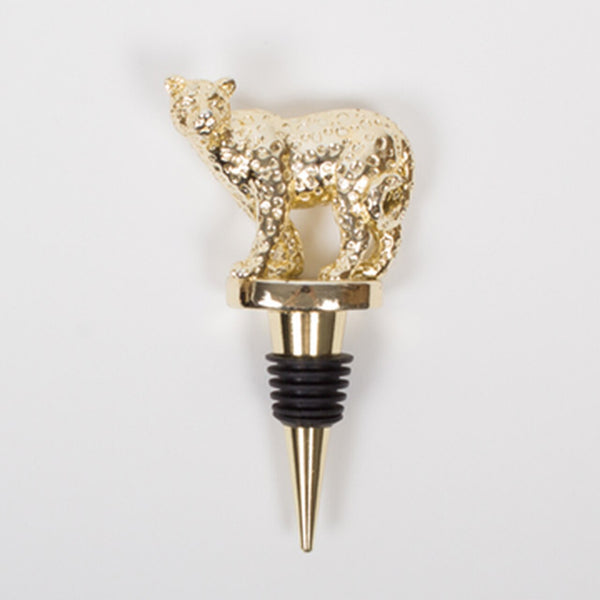 Gold Cheetah Bottle Stopper
