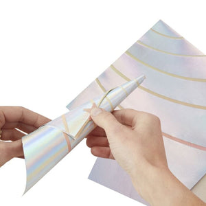 Iridescent Foiled 3D Unicorn Horn Paper Napkins