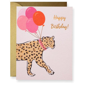 Leopard Birthday Greeting Card