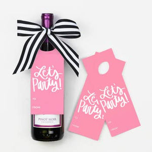 Lets Party Wine Tags