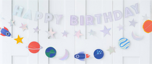Rocket Happy Birthday Banner