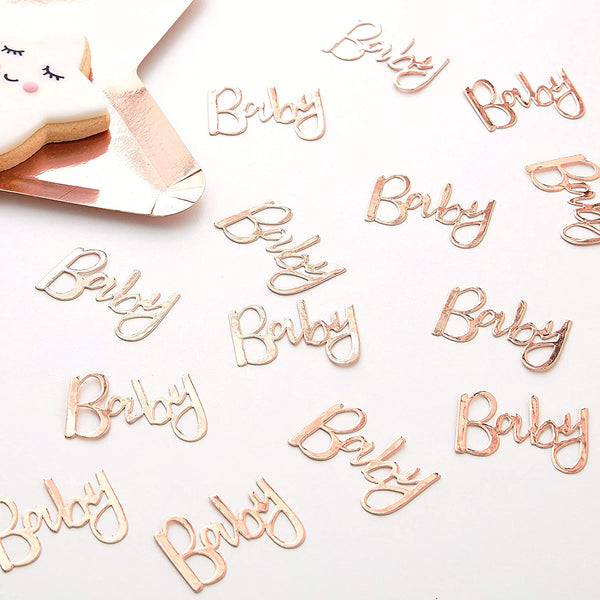 Rose Gold Baby Table Confetti