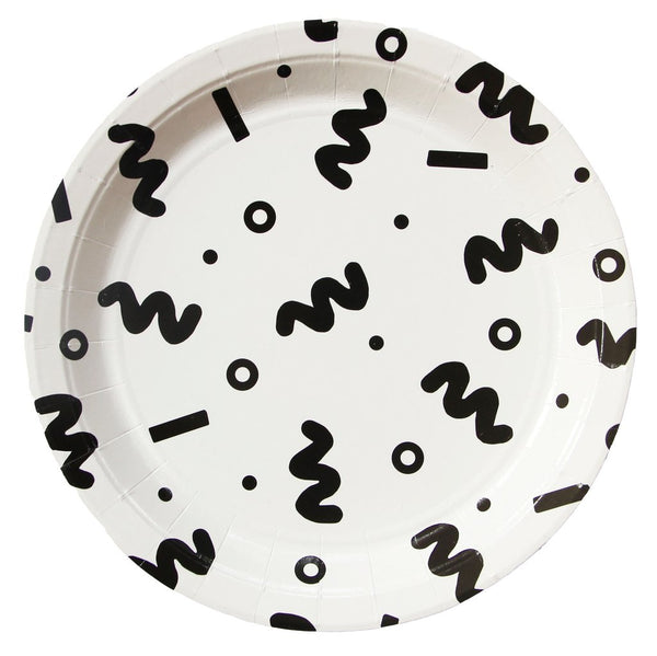 Squiggle Large Paper Plates