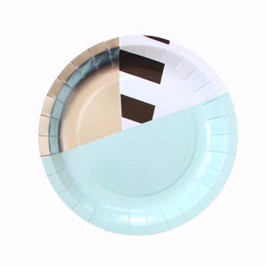 Mint Stripe Small Plates