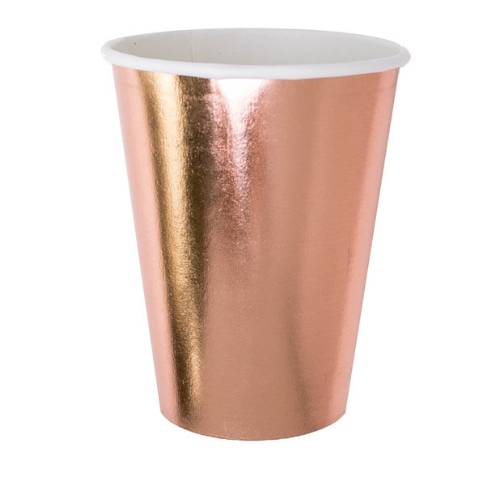 Posh Rose Gold Cups