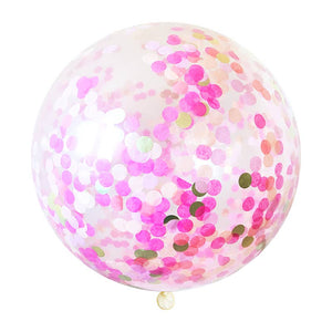 Confetti Jumbo Balloon - Pink Party