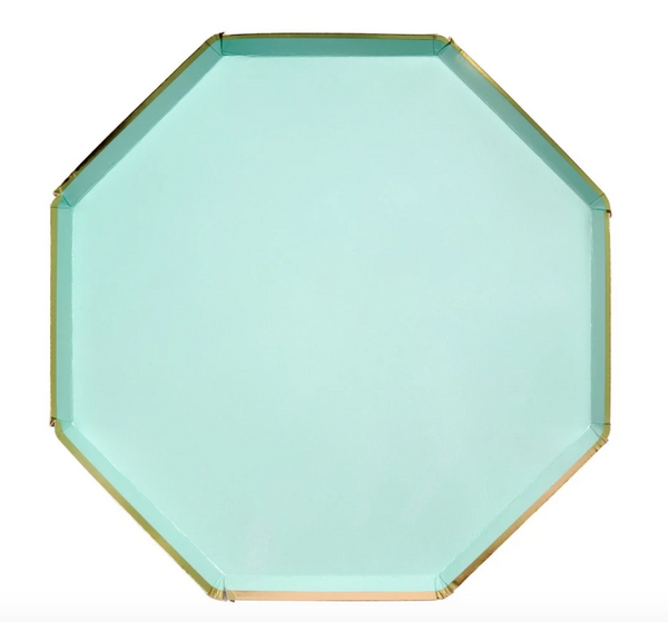 Mint Dinner Paper Plates