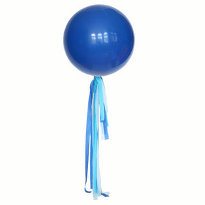 Ocean Blue Balloon Streamer Tail