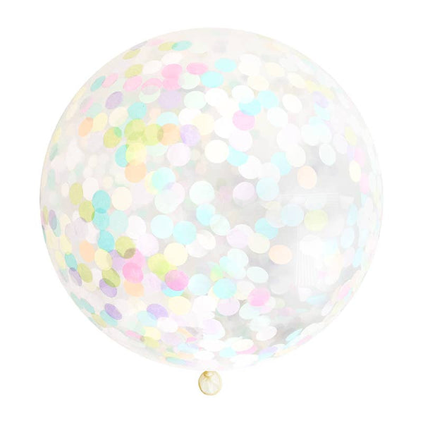 Copy of Confetti Jumbo Balloon - Pastel Rainbow