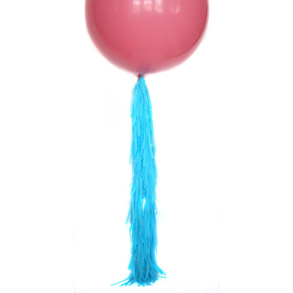 Ocean Blue Frilly Balloon Tassel