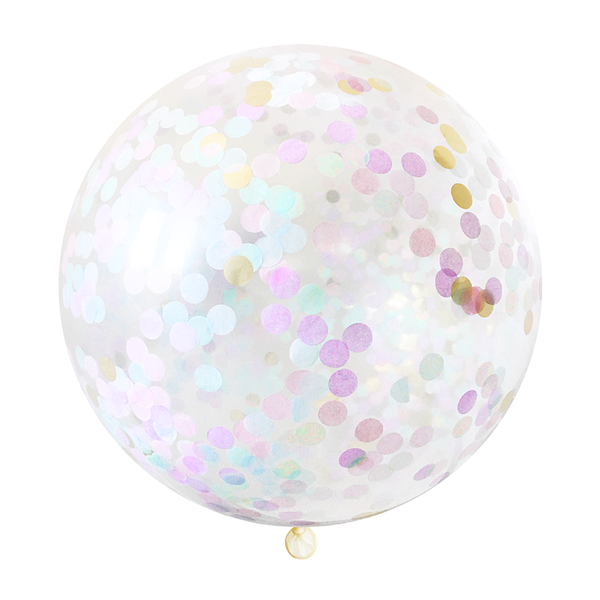 Confetti Jumbo Balloon - Unicorn