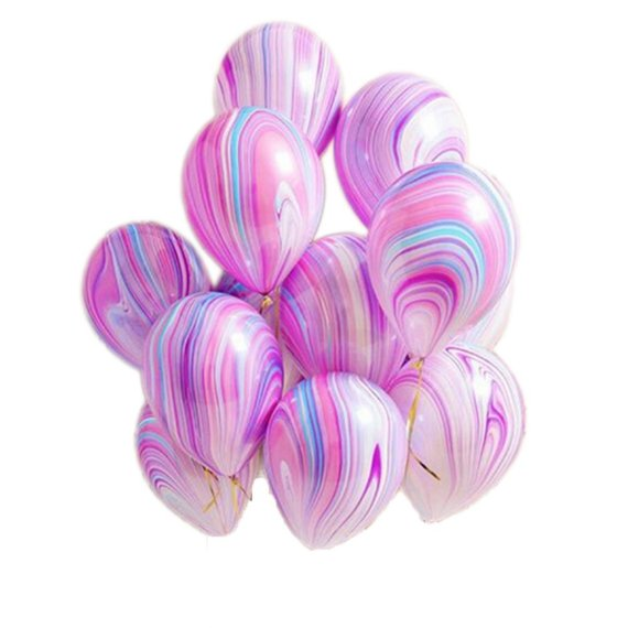 Unicorn Marble Latex Balloons