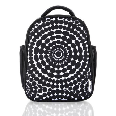 Black and White Bead Pattern Lunch Bag