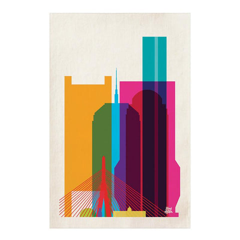 Boston CityScape Tea Towel