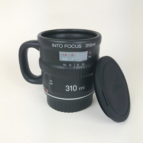 Into Focus Camera Lens Mug